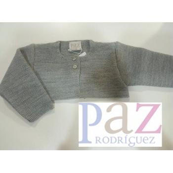 chaqueta básica gris