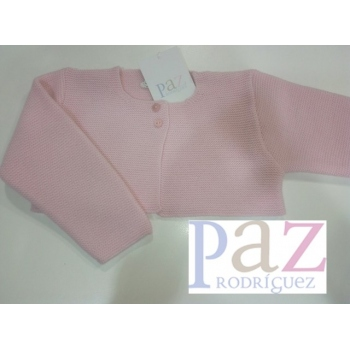 chaqueta básica rosa tiza