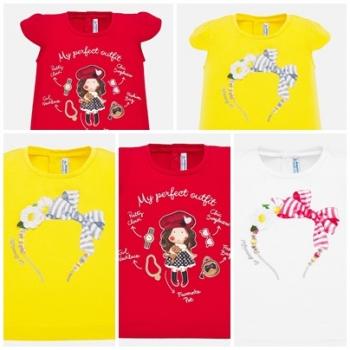 Camiseta manga corta dibujo bebé niña