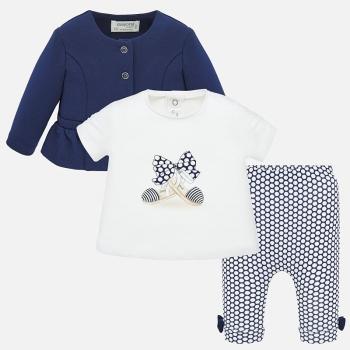 Conjunto chaqueta y leggings estampados bebé recién nacida
