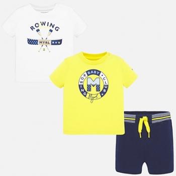 Conjunto camisetas dibujo y shorts bebé niño