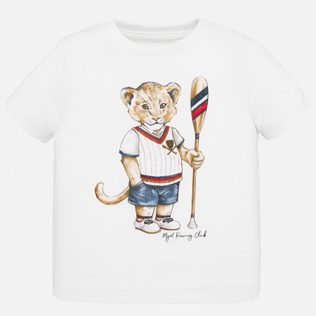 Camiseta manga corta animal bebé niño