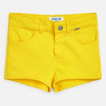 pantalón corto niña amarillo