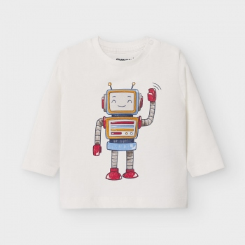 Camiseta manga larga play with robot bebé niño