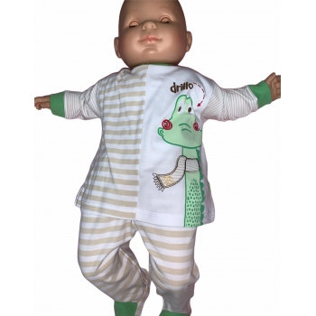 pijama cocodrilo 2 piezas