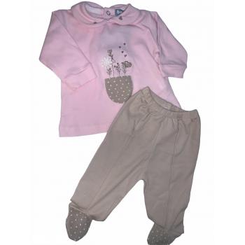 pijama flor 2 piezas